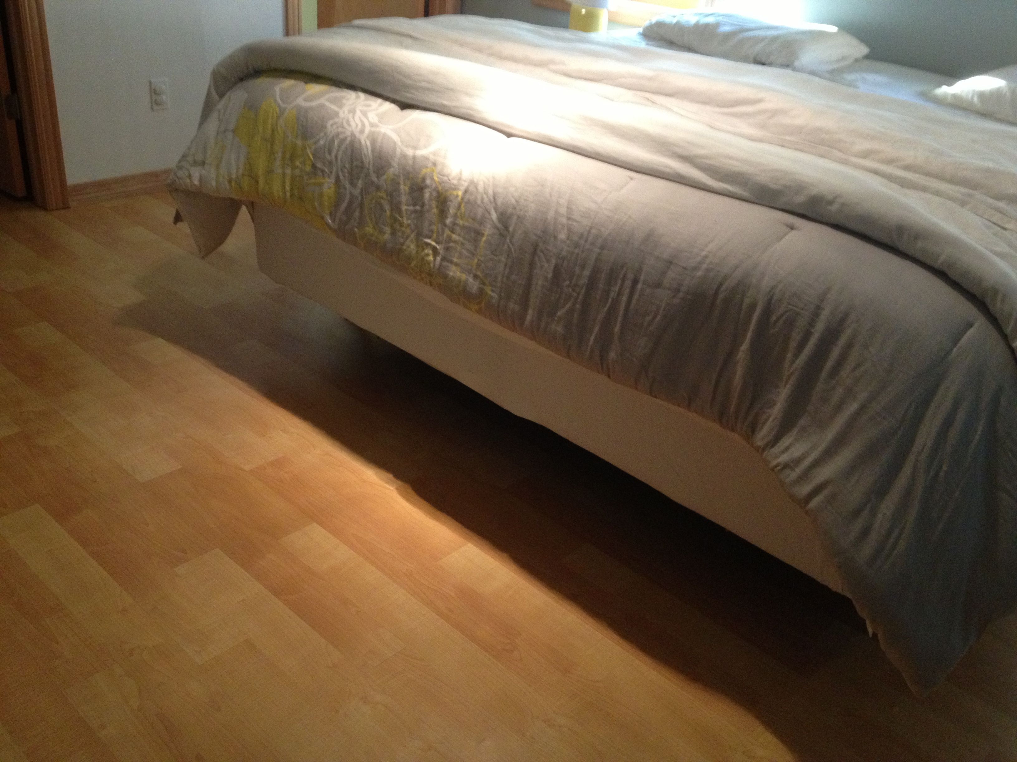 Pseudo platform bed. Gives the clean, streamlined look of