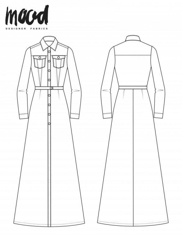 The Xryis Dress Free Sewing Pattern Mood Sewciety Patterns