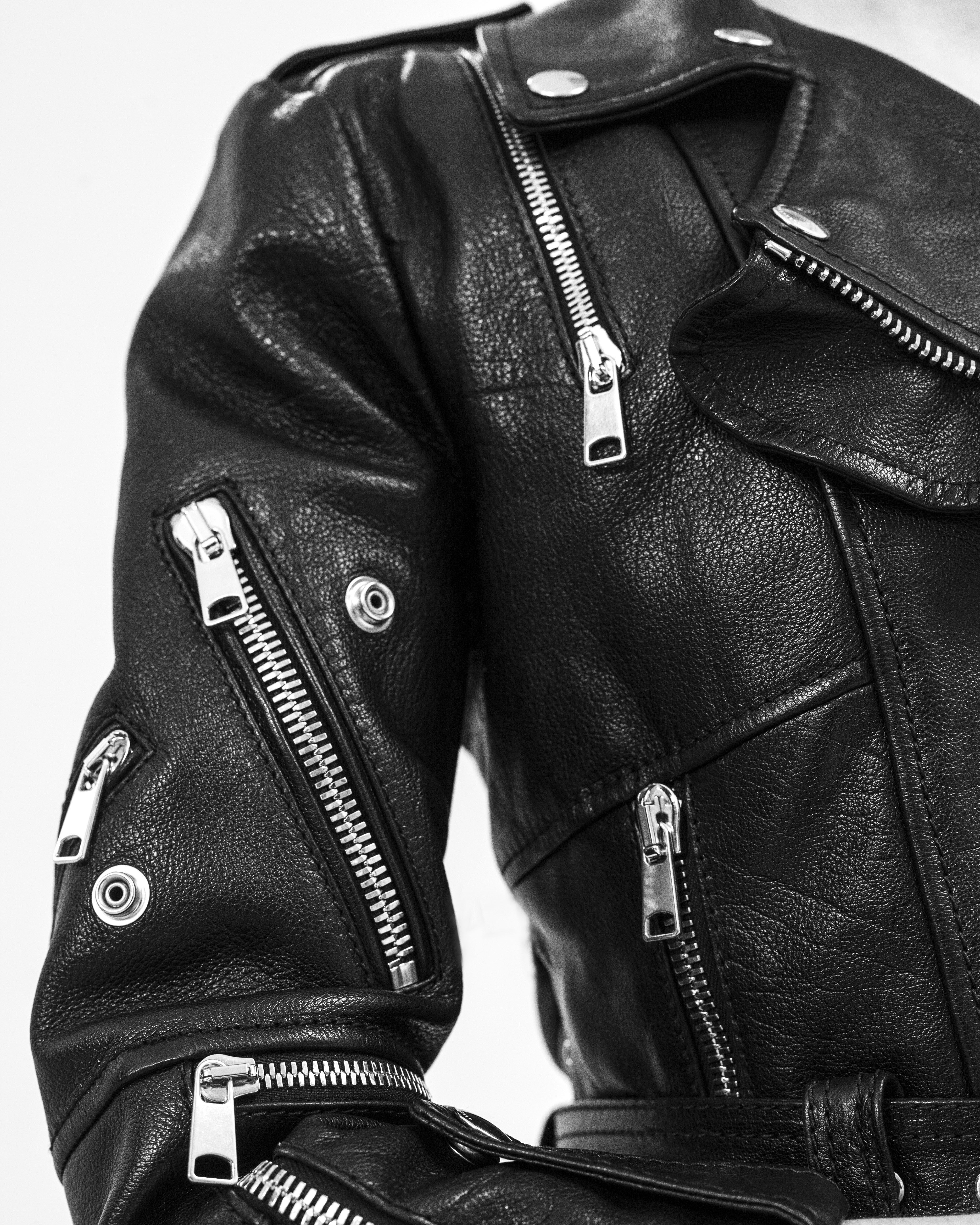 1d1a72f9a A detail of the multi-zip leather biker jacket from Pre Spring ...