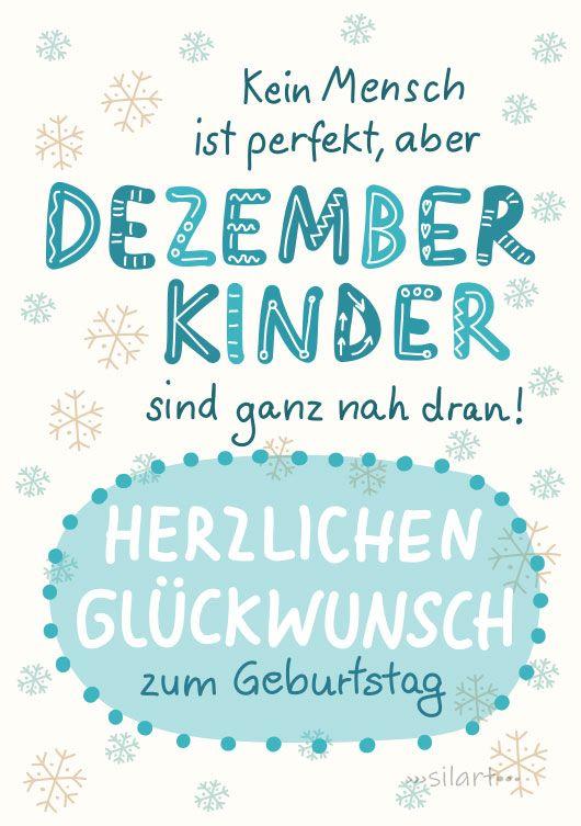 {happy write} Geburtstagkarte Dezemberkinder