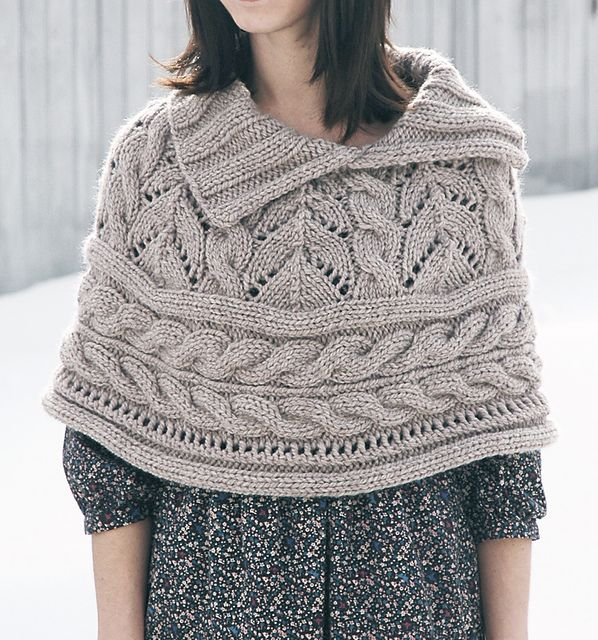 Ravelry: Lace and Cables Capelet pattern by Norah Gaughan | knitting ...