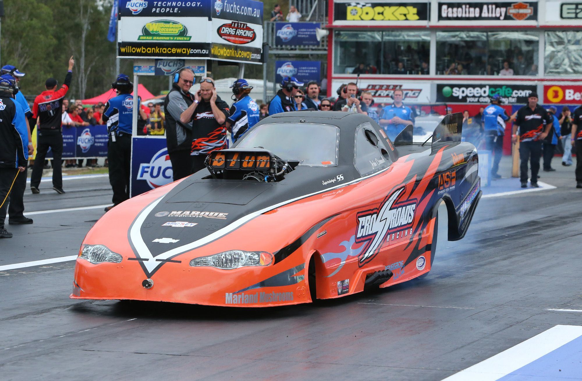 Day Two Of The Fuchs Winternationals At Willowbank Raceway John Cannuli In Top Alcohol For Info On Saturday S Proceed Nhra Drag Racing Drag Racing Drag Cars