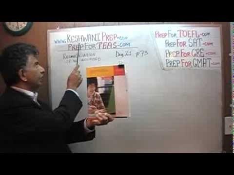 Teas V Math Day 21 P73 Reconciliation Of An Teas V
