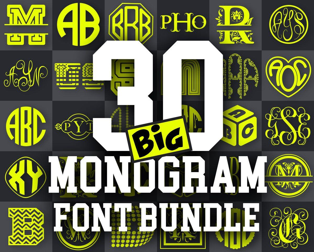 Download CRICUT FONTS SVG monogram font bundle svg - monogram font ...