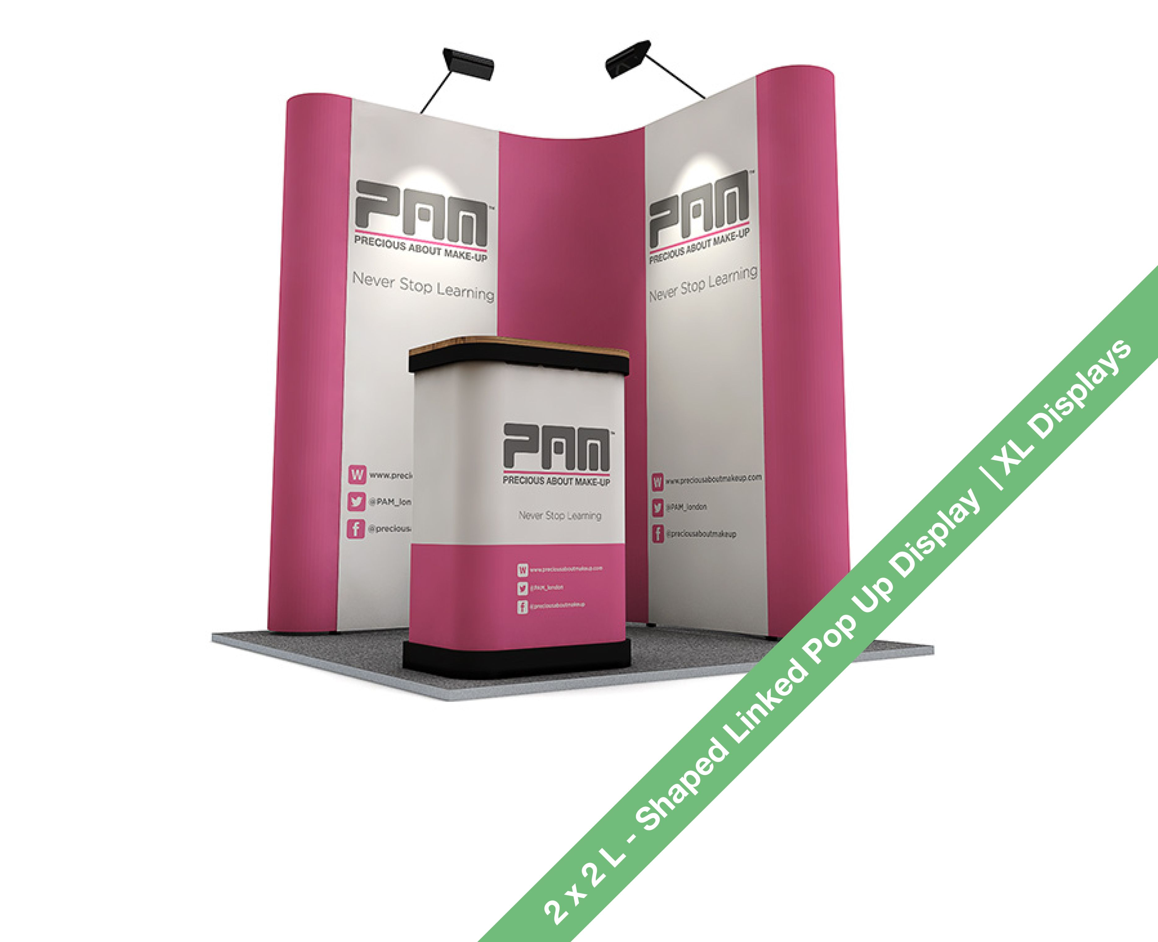 D Xl Exhibition : L shaped pop up display stand m m linked pop up stands