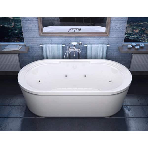 atlantis whirlpools royale 34 x 67 oval freestanding air & whirlpool