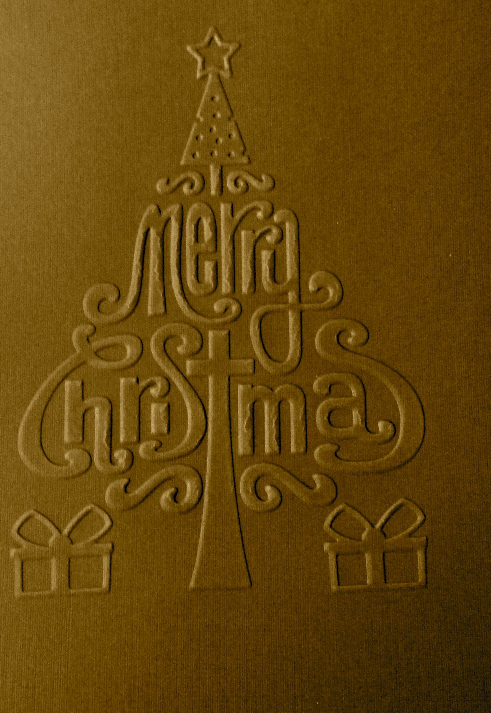 Another Christmas card made with the Big Shot.