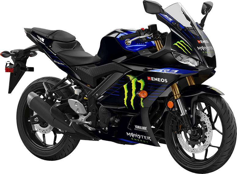Image result for YZF R25 MONSTER ENERGY YAMAHA MOTOGP EDITION png