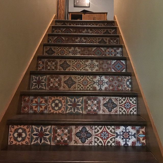 Peel And Stick Stair Risers Vinyl By Snazzydecal Stair Riser Vinyl Stair Risers Stairs