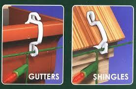 25ct Patio Light Holder Outdoor Deck Railing Hook Clips Light Clips Christmas Light Clips Deck Lighting