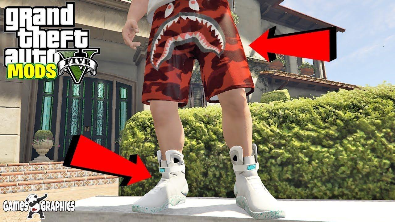 demasiado Cristo peine  How to Install Nike Air Mags & Bape Camo Shorts (2019) GTA 5 MODS   Bape  camo shorts, Camo shorts, Nike air mag