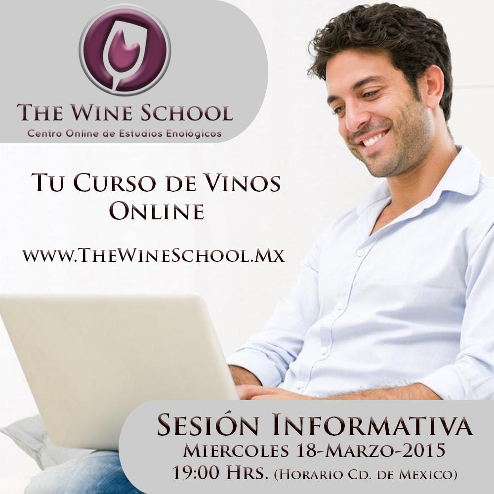 """¿ Quieres Entrar a The Wine School y tienes Dudas o Preguntas ?  Proxima Sesión Informativa el 18-Marzo-2015   19:00 hrs   Gratis  Registrate aquí: http://www.thewineschool.mx/sesion-informativa/  Sortearemos un lugar entre los asistentes para el """" Módulo 1 """" de Nuestro Curso de Vinos Online """" The Wine School """""""