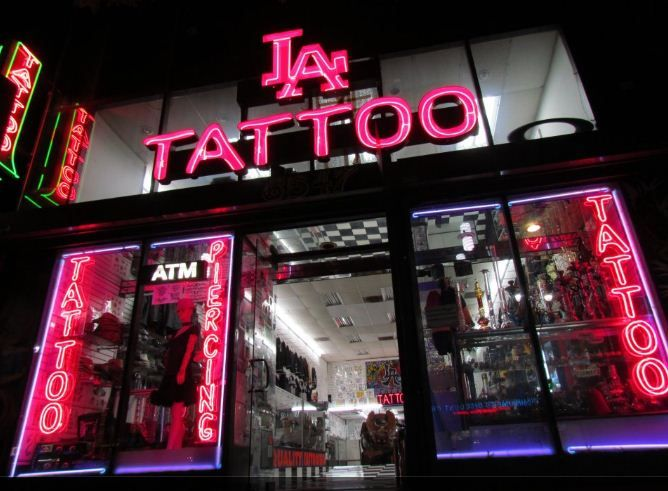Los angeles tattoos city of angels pinterest tattoos for Alaska tattoo shops