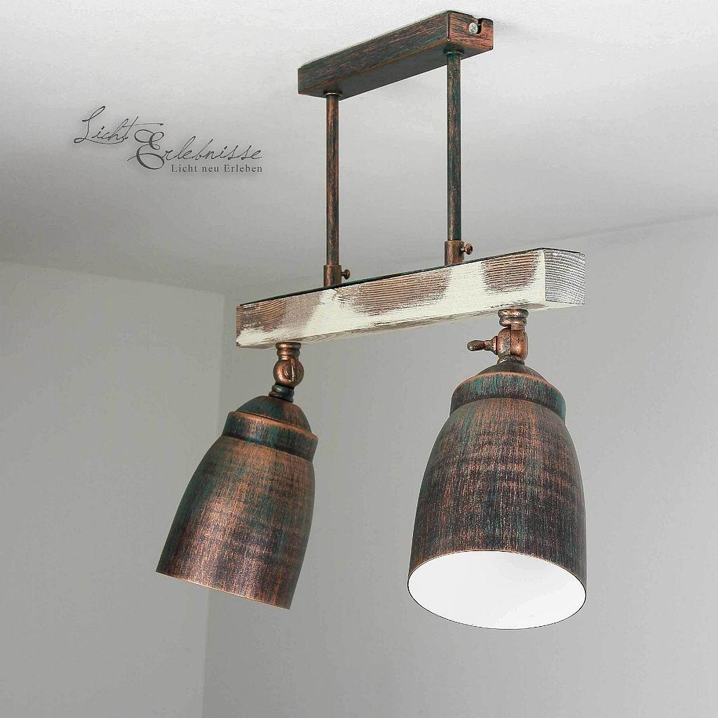 Eindrucksvolle Vintage Deckenleuchte Shabby 2x E27 Deckenlampe