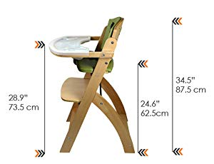 Amazon Com Abiie Beyond Wooden High Chair With Tray The Perfect Adjustable Baby Highchair Solution For Your Ba Wooden High Chairs Baby High Chair High Chair