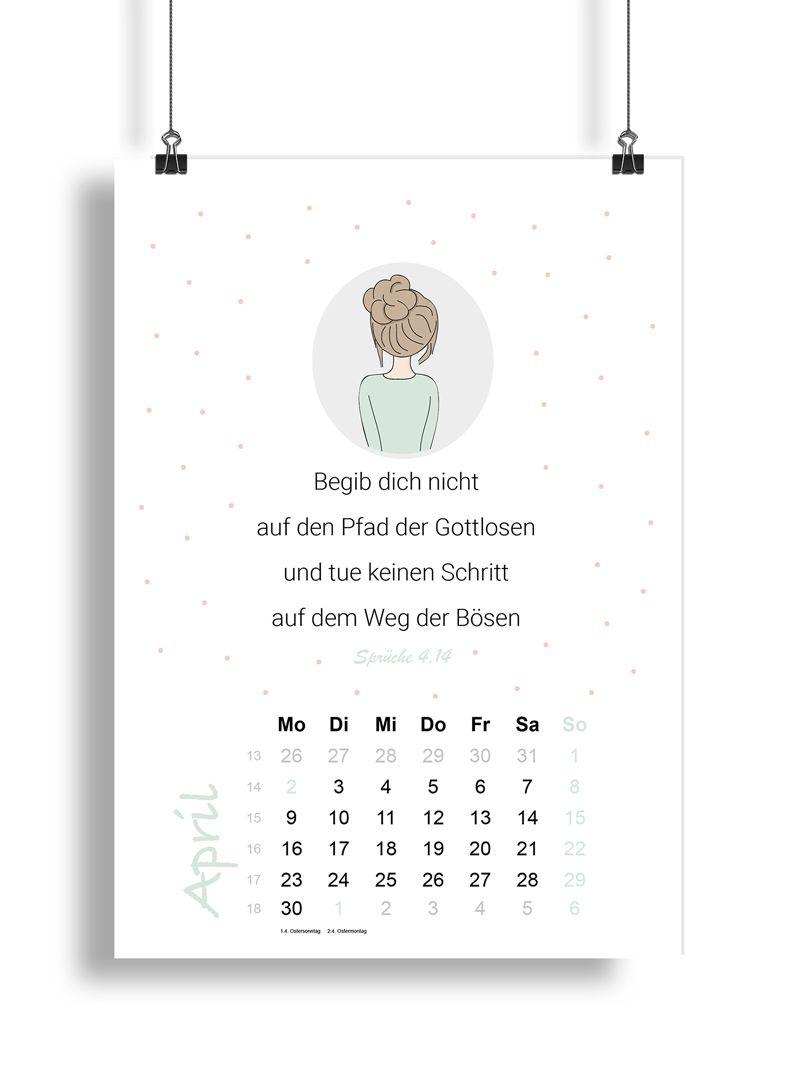 Kalender 2018 – Salomos Sprüche - Mias Schatzkammer