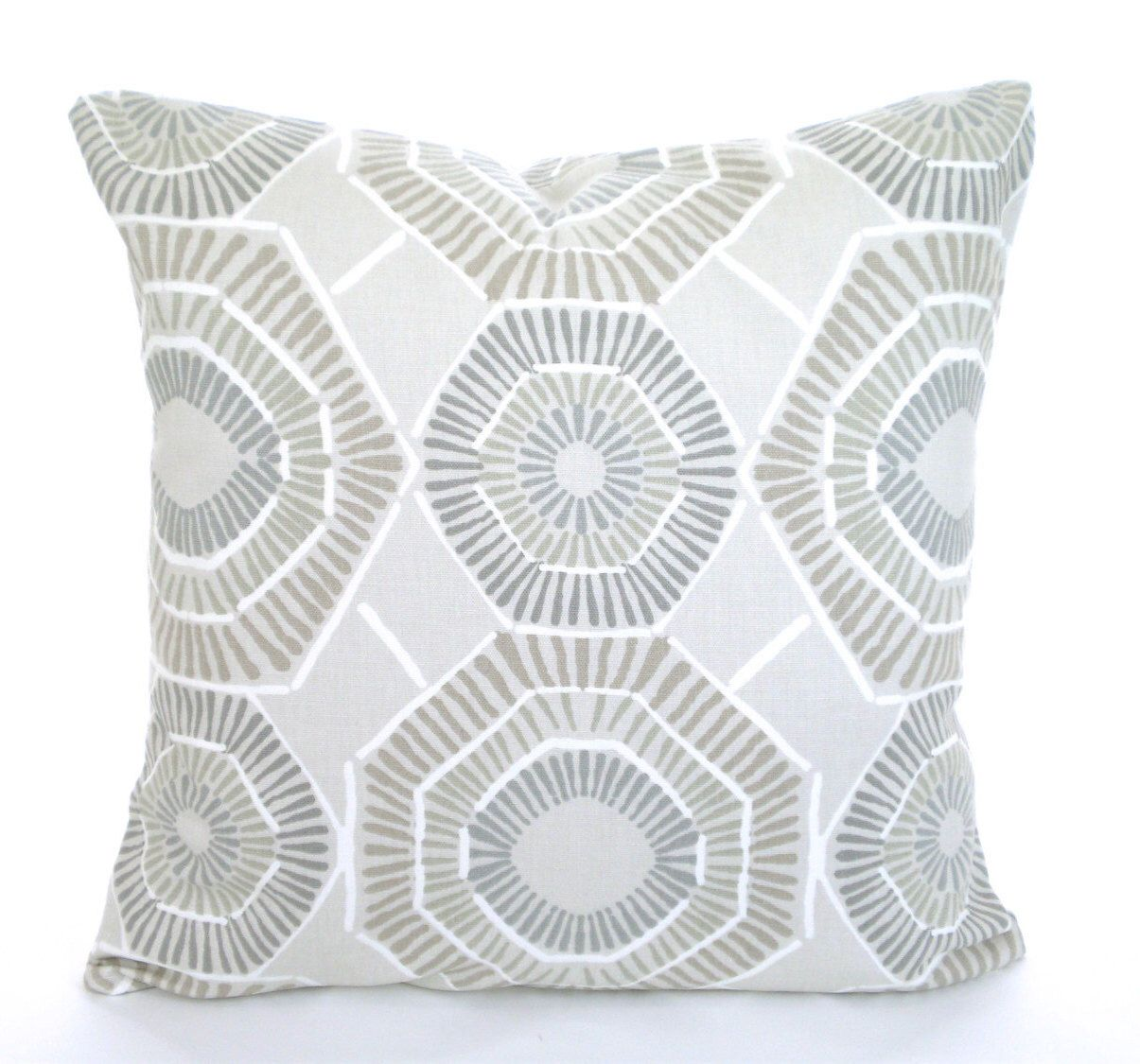 Throw Pillows Taupe : Taupe Tan Gray Pillow Covers, Decorative Throw Pillows, Tan Cushions, Ecru Tan Grey White Charm ...