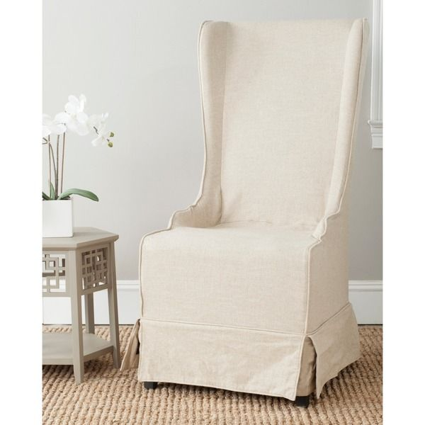 Safavieh Deco Bacall Ivory Slip Cover Side Chair - Overstock ...