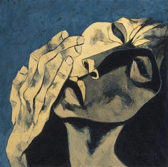 CABEZA Y MANO By Oswaldo Guayasamín ,1979