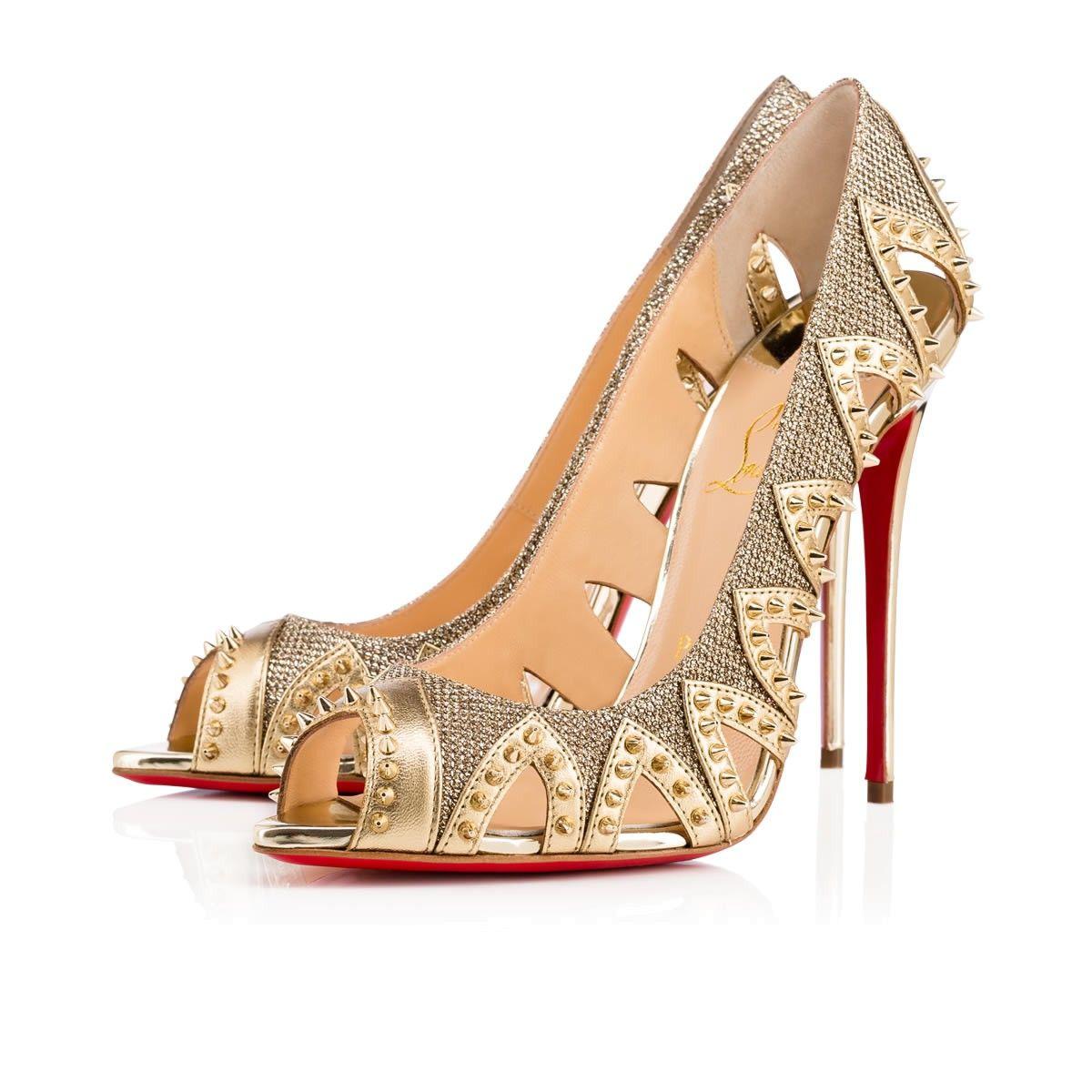 new product c5ba6 effcf Christian louboutin circus city - glitter gold,christian ...