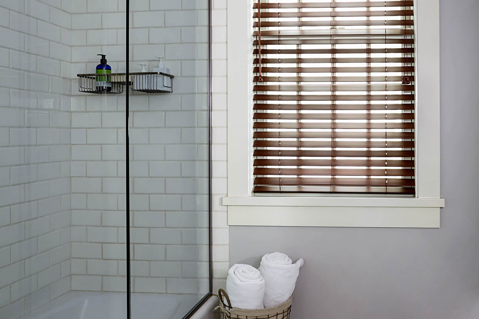 Window coverings wood  faux wood wood tones window blinds  blinds  window treatment