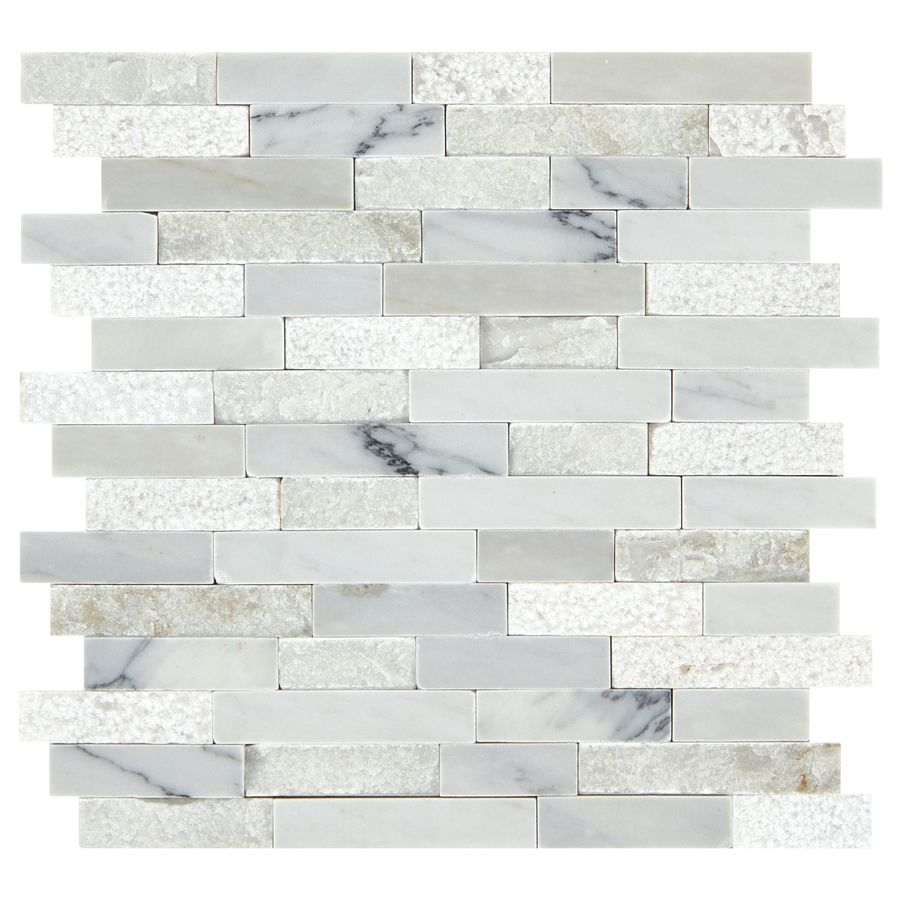 American olean genuine stone refined white linear mosaic marble wall american olean genuine stone refined white linear mosaic marble wall tile common 13 dailygadgetfo Choice Image