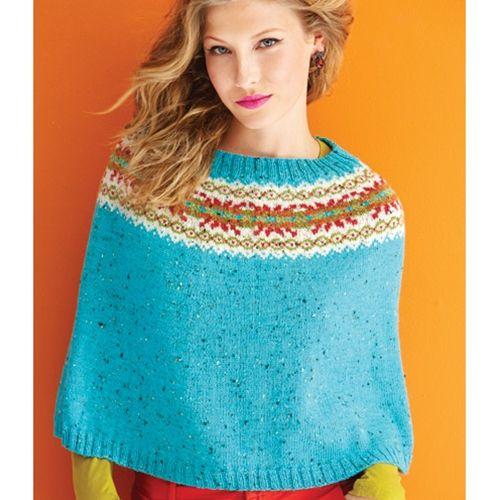 FAIR ISLE PONCHO Vogue Knitting Holiday 2014 #22 Design by Yoko ...