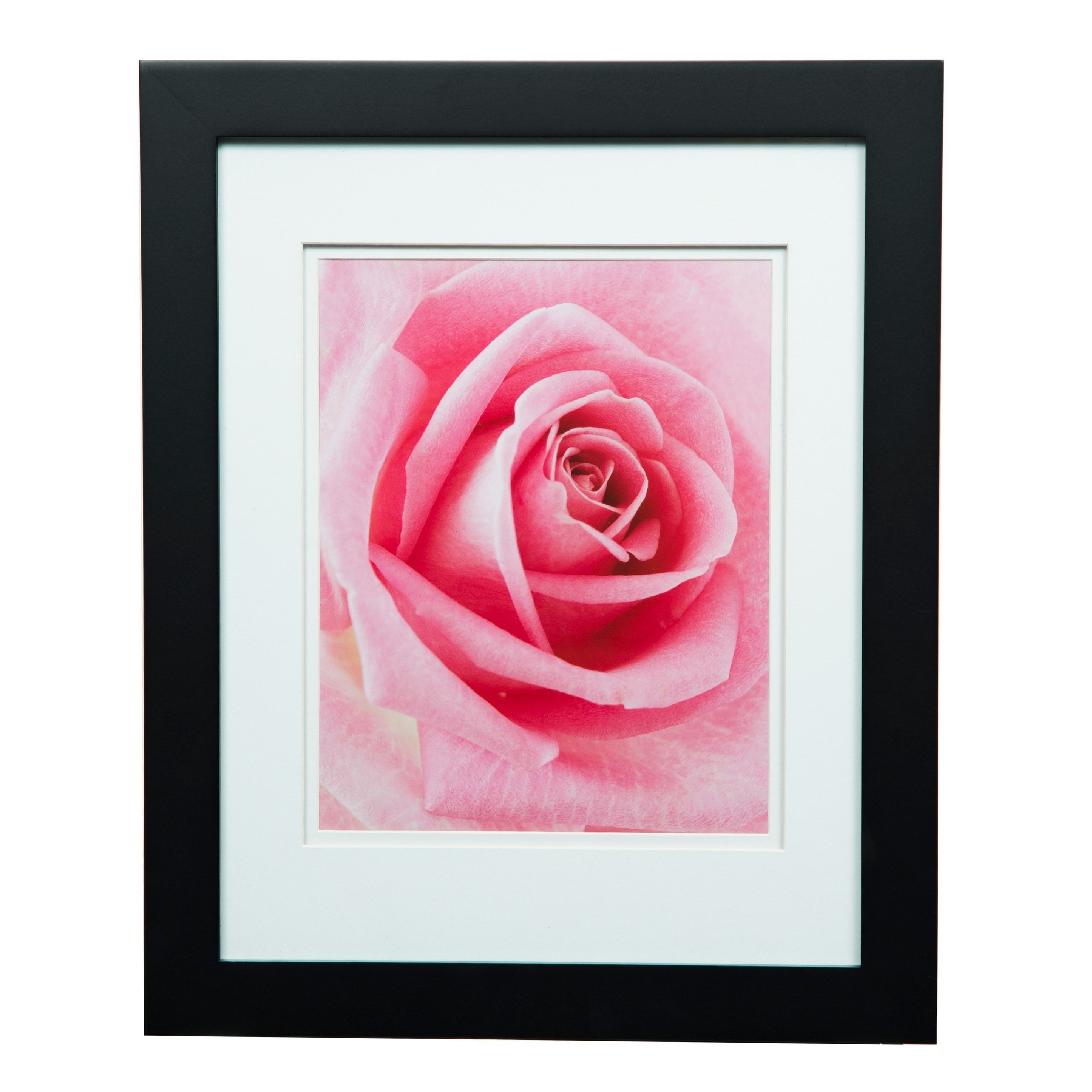 Gallery 11x14 Wide Black Double Mat to 8x10 Picture Frame (Wood ...