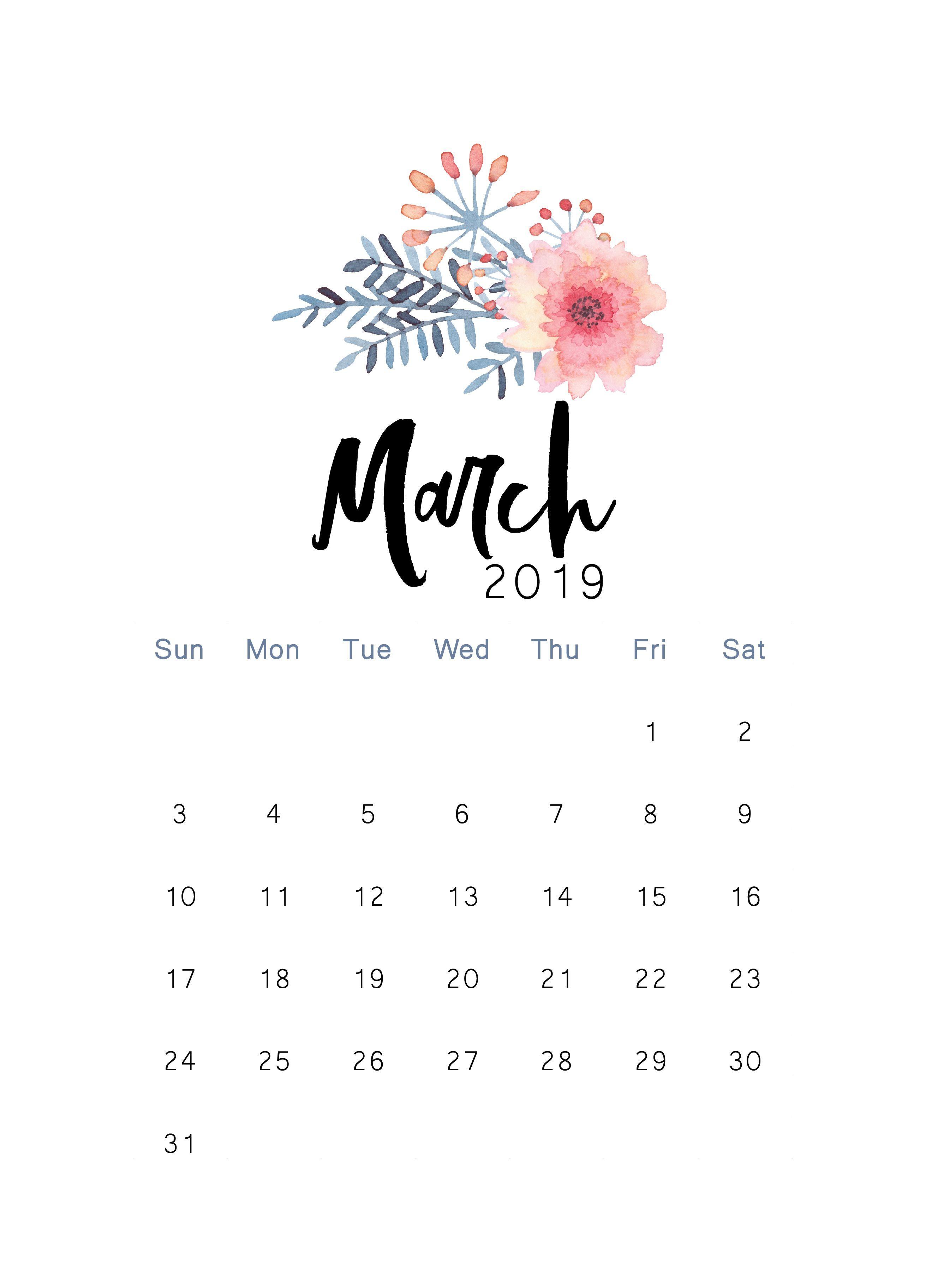 Calendar Planner Stickers : March printable calendar the cactus creative