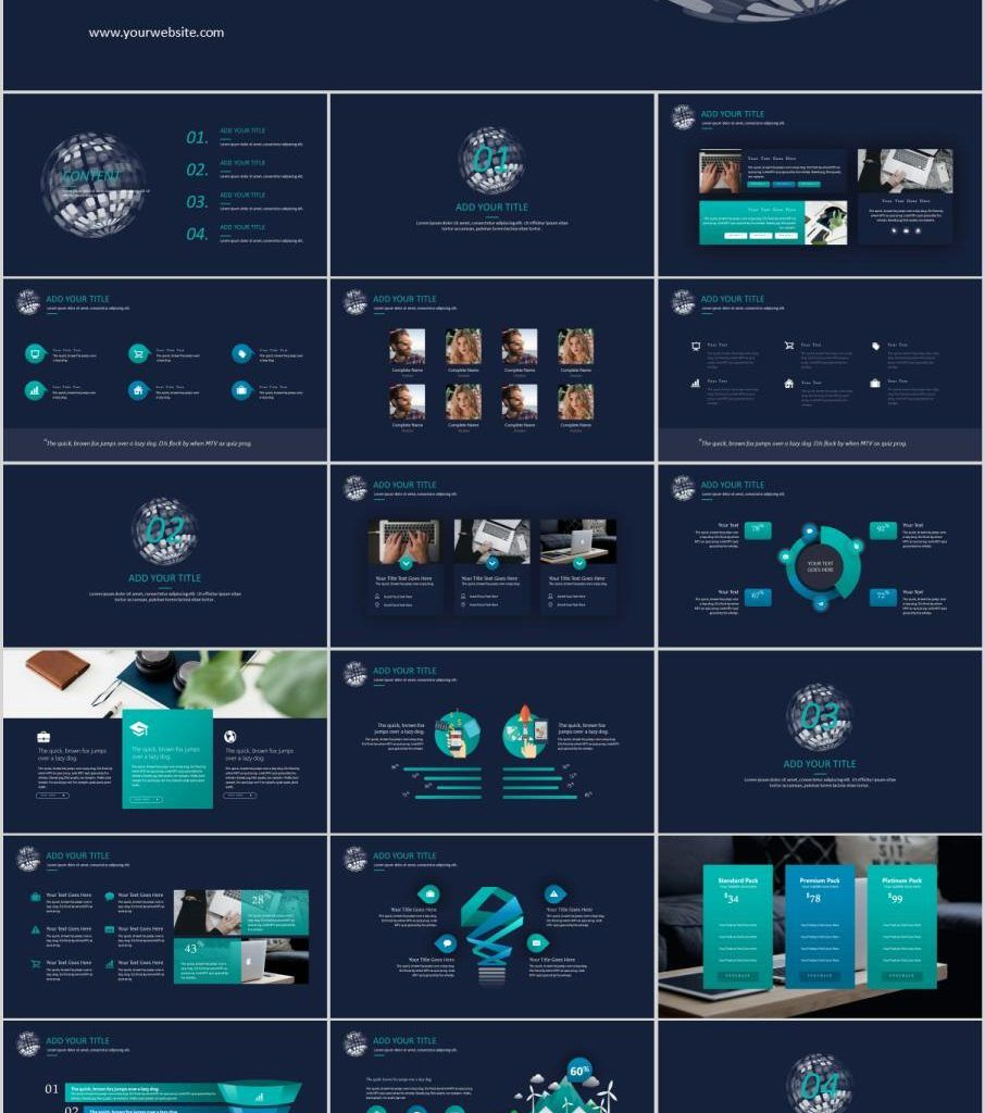 Blue Company Charts Report Powerpoint Template Powerpoint Templates Powerpoint Templates