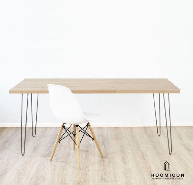 Schreibtische 4x Hairpin Legs Tischbeine 70 Cm Haarnadelbeine 72 Ein Designerstuck Von Roomicon Design Bei Dawanda Tischbeine Haus Deko Inneneinrichtung