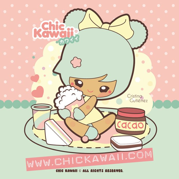 Chic Kawaii: Kawaii breakfast! Merienda kawaii! sweet!
