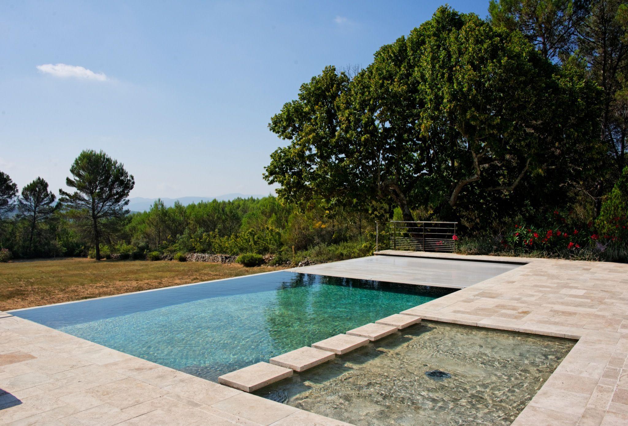 le d bordement par l esprit piscine 12 5 1m margelles travertin conception architecte. Black Bedroom Furniture Sets. Home Design Ideas