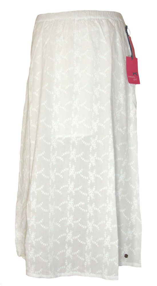 3617d804dabecc Tommy Hilfiger Juniors Skirt Maxi Embroidered Floral Long White Sz XL NEW  $64 #TommyHilfiger #Maxi