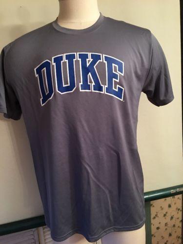 e23c398a MEN'S LARGE SHORT SLEEVE DUKE UNIVERSITY NCAA POLO SHIRT GREY BLUE DUKE