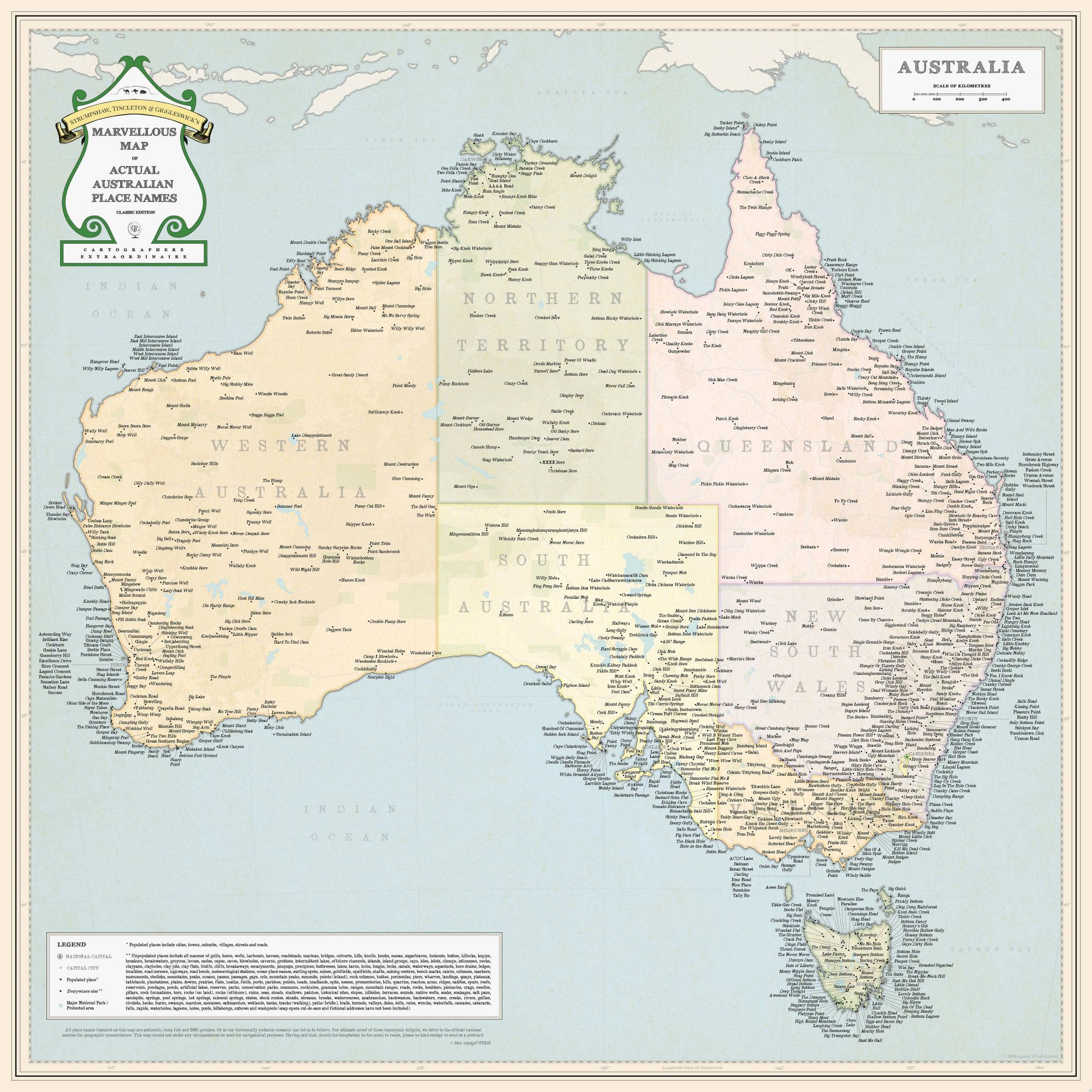 Show Me A Map Of Australia.Funny And Unusual Place Names Of Australia Maps Geography
