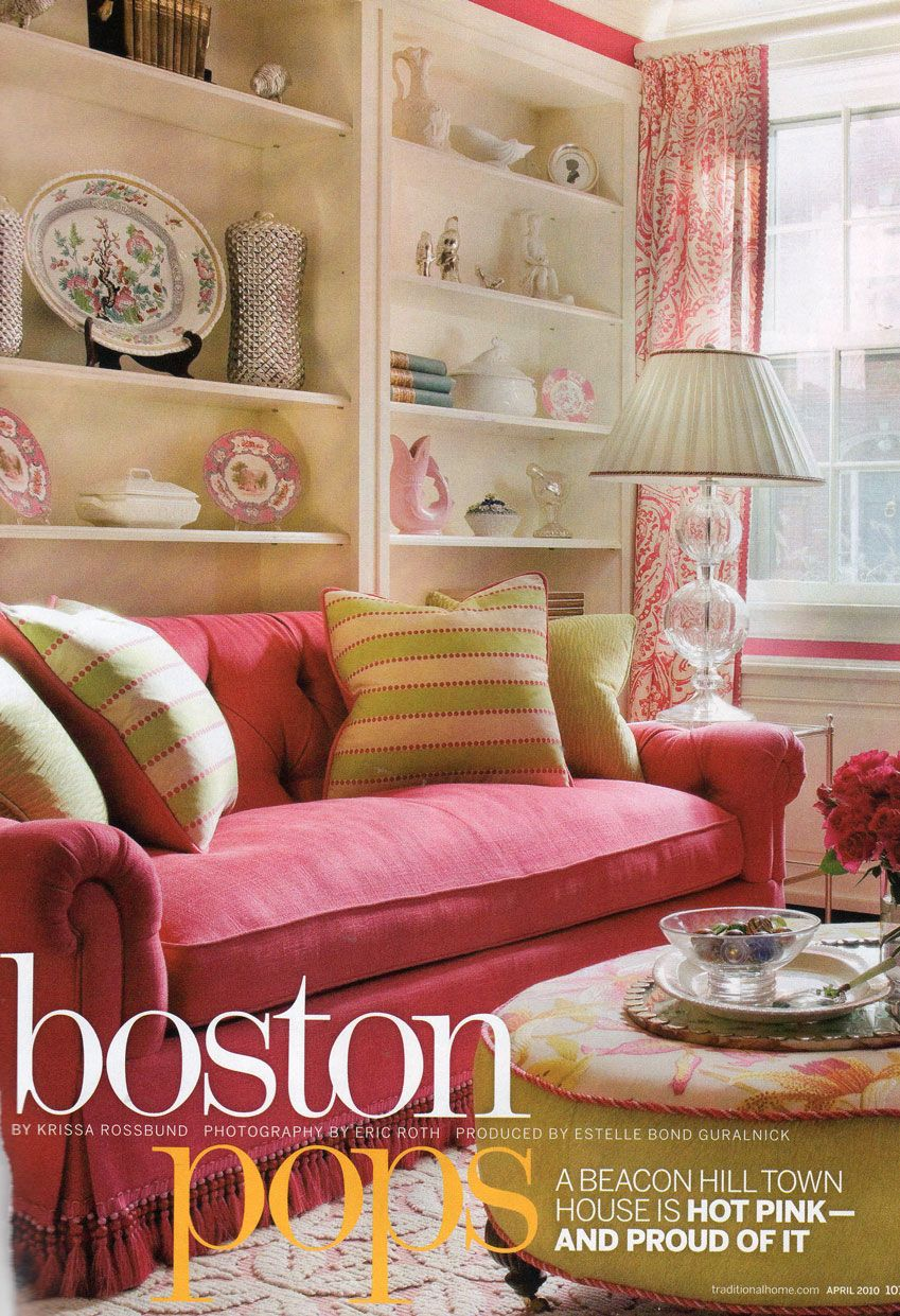Pink Living Room Chair Warm Color Schemes Style Living Rooms And Cottages