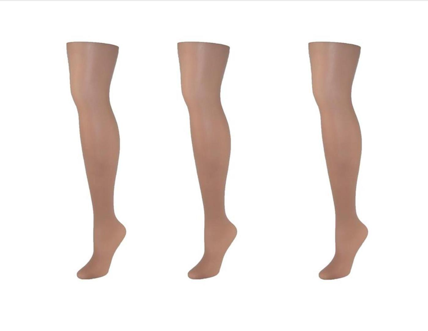 Just My Size Women/'s Plus Run Resistant Control Top Panty Hose