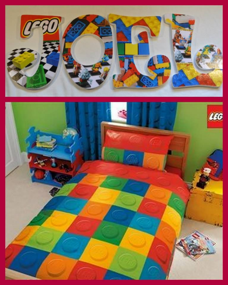 """Lego Bedroom Decorating Ideas: 9"""" Letters Done In Any Theme, Bedding, College, Team"""