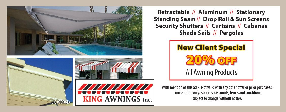 King Awnings Inc King Awnings Inc Has Sold Thousands Of Retractable Awnings Retractable Canopies A Awning Home Improvement Contractors Security Shutters