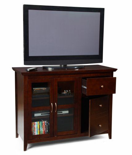 convenience concepts 8043387 sierra highboy tv stand for flat panel tvs up to or