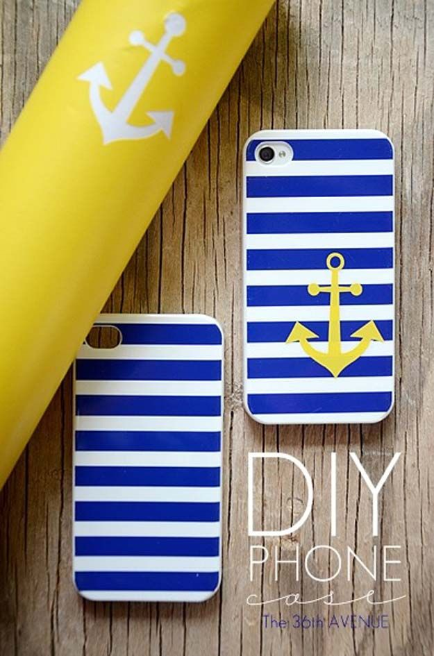 9dfd28f5e3 DIY iPhone Case Makeovers - Phone Case - Easy DIY Projects and Handmade  Crafts Tutorial Ideas You Can Make To Decorate Your Phone With Glitter,  Nail Polish, ...