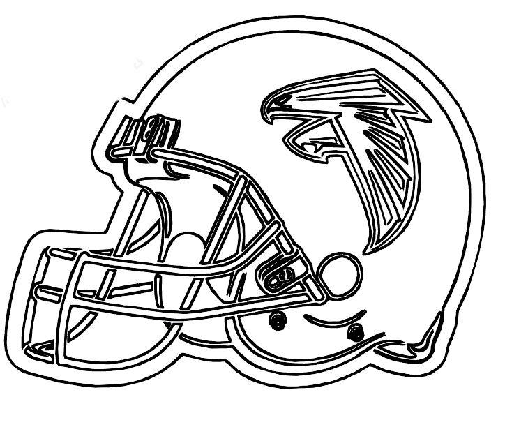 NFL Football Helmet Coloring Pages | Superbowl 51 | Siluetas