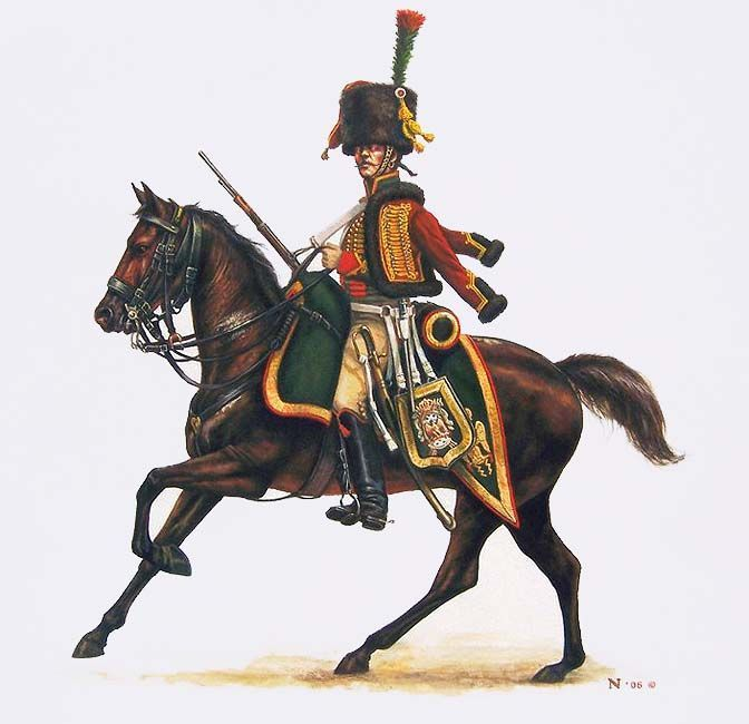 Cacciatore a cavallo della guardia imperiale francese