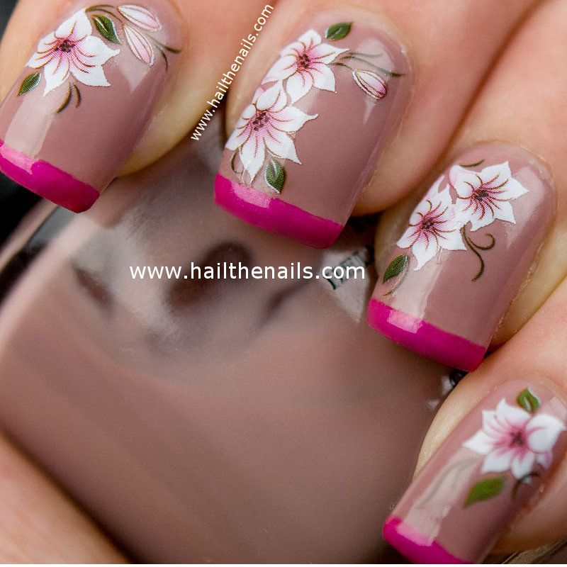 Flower Nail   Nail Art Ideas   Pinterest   Flower nails, Water ...