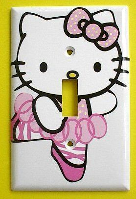 Hello Kitty Single Switch Plate #2 . $9.49