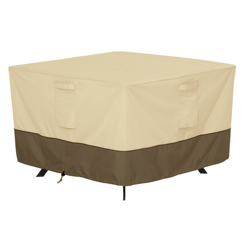 Freeport Park Donahue Water Resistant Patio Table Cover Reviews Wayfair Square Patio Table Patio Furniture Covers Patio Table