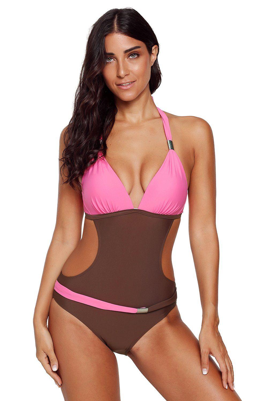 a7954b5cc027f Rosy Push-up Halter One-piece Swimwear #Swimwear #RashGuards #Summer  #KaleaBoutique #MaxiDress #RashGuard #EveningDress #WomenSwimwear  #SpringBreak # ...
