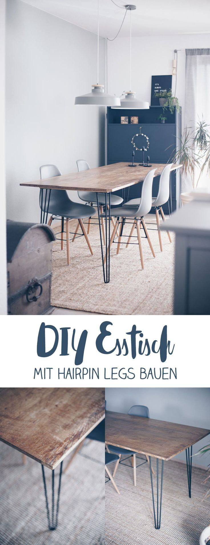 Photo of Make your own DIY dining table with hairpin legs – build your own furniture – DIY idea