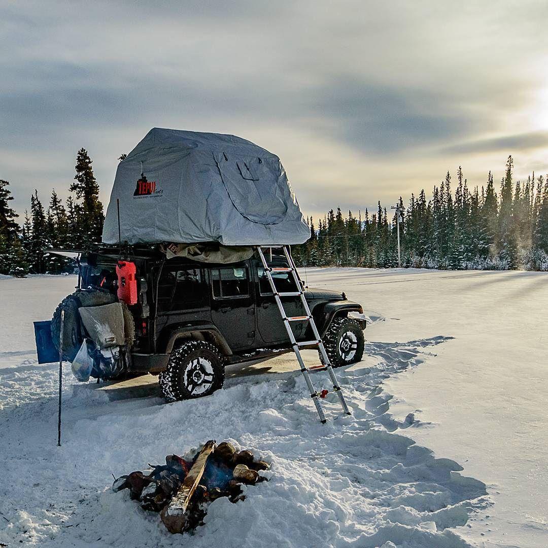 The Vagabondexpedition Overland Jeep Wrangler Sporting Camper Tepuitents Weather Hood